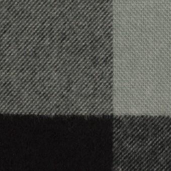 ポリエステル&アクリル混×チェック(スレートグレー&ブラック)×サージ_パネル_全2色