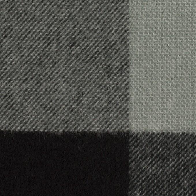ポリエステル&アクリル混×チェック(スレートグレー&ブラック)×サージ_パネル_全2色 イメージ1