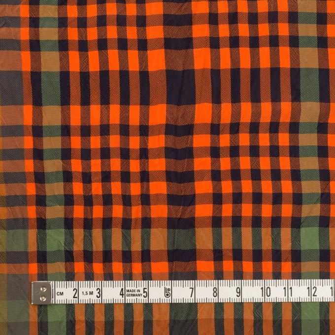 キュプラ×チェック(オレンジ&グリーン)×ポプリンワッシャー イメージ4