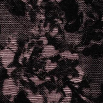 ポリエステル×フラワー(チリアンパープル)×パワーネット・フロッキー_全2色