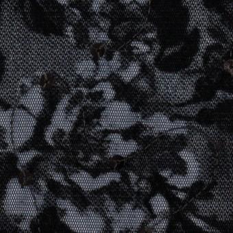 ポリエステル×フラワー(プルシアンブルー)×パワーネット・フロッキー_全2色