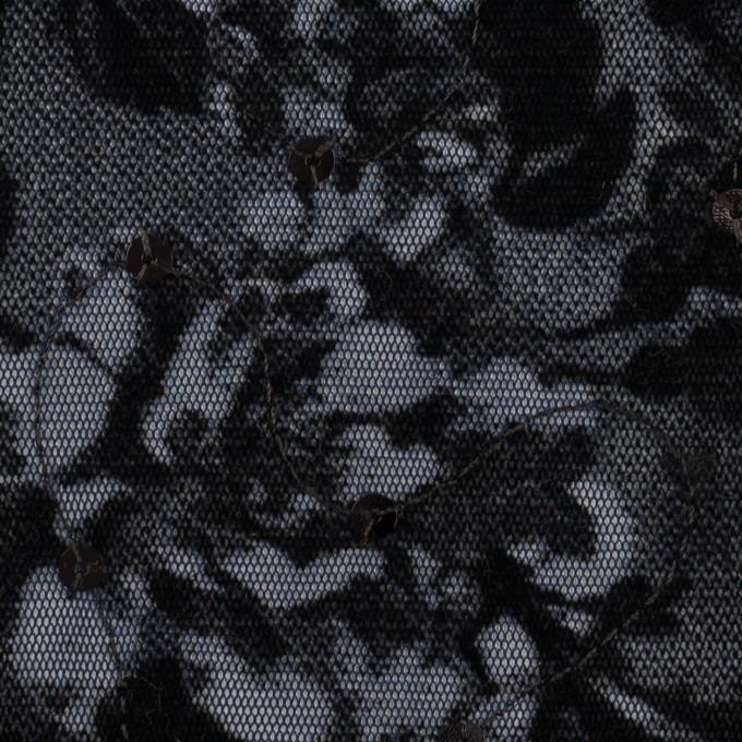 ポリエステル×フラワー(プルシアンブルー)×パワーネット・フロッキー_全2色 イメージ1