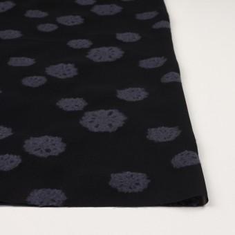 レーヨン&ウール×フラワー(ブラック&グレイッシュパープル)×ジョーゼット・カットジャガード サムネイル3