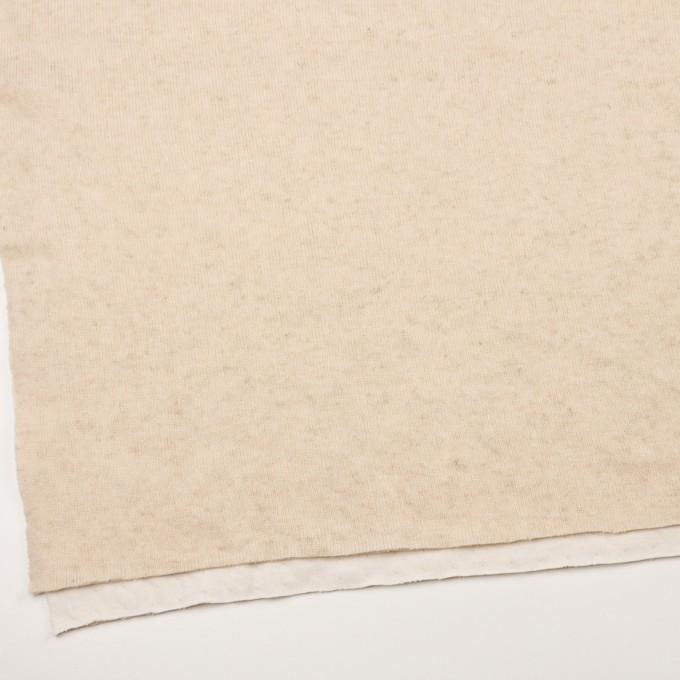 ウール&コットン×無地(エクリュ)×W天竺ニット_全4色 イメージ2