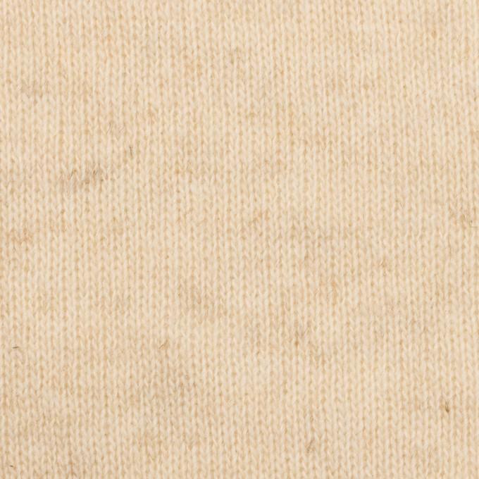 ウール&コットン×無地(エクリュ)×W天竺ニット_全4色 イメージ1