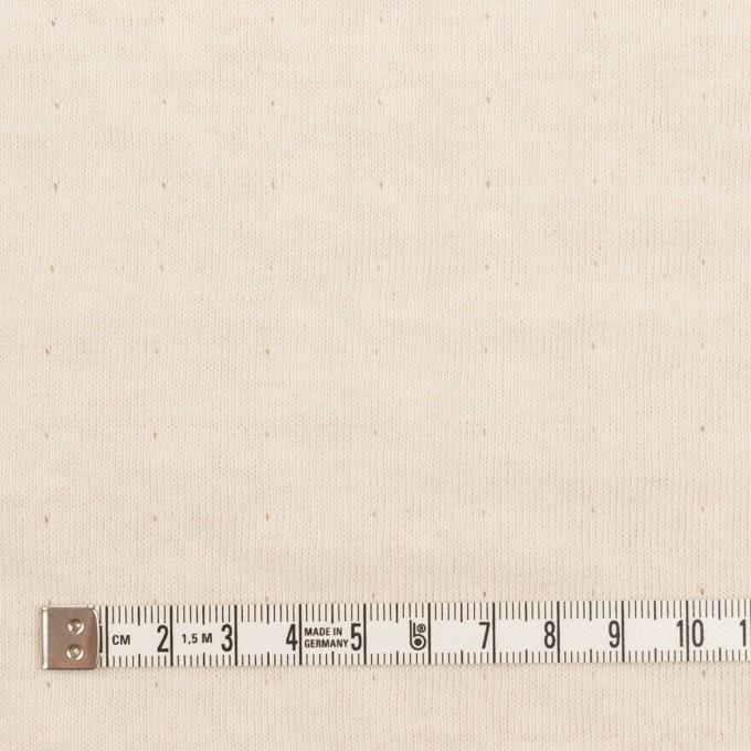 ウール&コットン×無地(エクリュ)×W天竺ニット_全4色 イメージ6