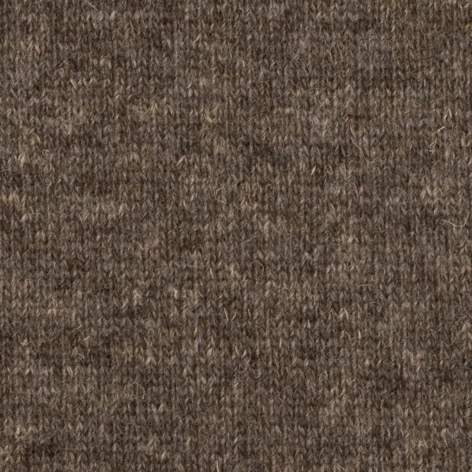 ウール&コットン×無地(アッシュブラウン)×W天竺ニット_全4色 イメージ1