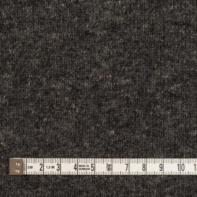 ウール&コットン×無地(チャコール)×W天竺ニット_全4色 イメージ4