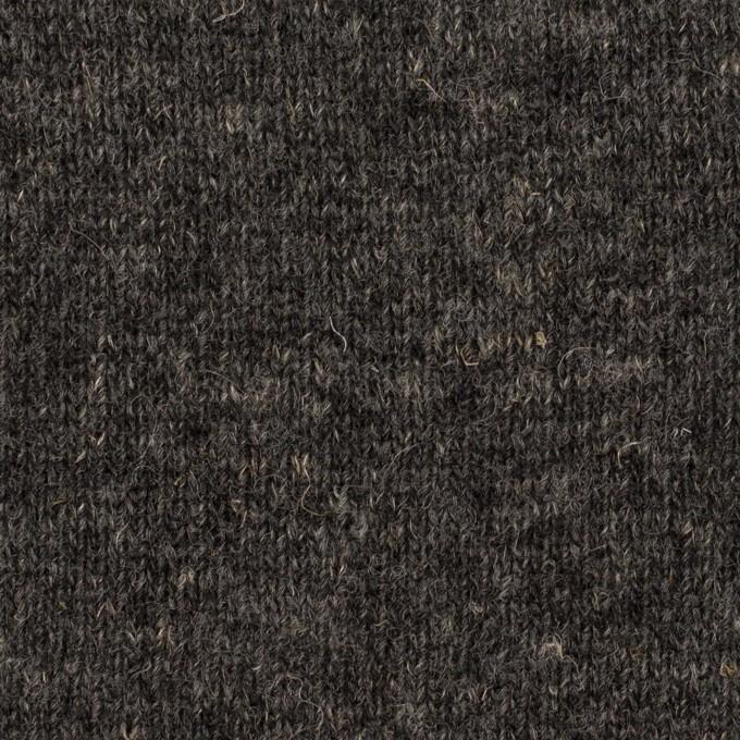 ウール&コットン×無地(チャコール)×W天竺ニット_全4色 イメージ1
