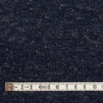ウール&コットン×無地(ネイビー)×W天竺ニット_全4色 サムネイル4