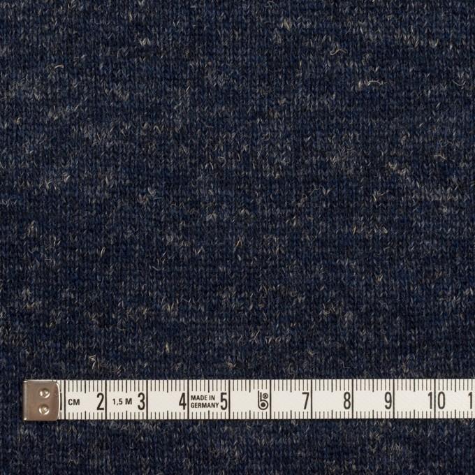 ウール&コットン×無地(ネイビー)×W天竺ニット_全4色 イメージ4