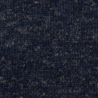 ウール&コットン×無地(ネイビー)×W天竺ニット_全4色 サムネイル1