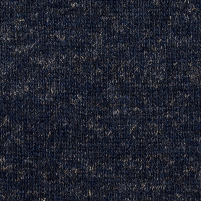 ウール&コットン×無地(ネイビー)×W天竺ニット_全4色 イメージ1