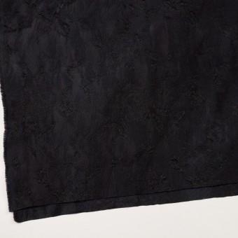 ウール&レーヨン混×フラワー(チャコールブラック)×ジャガード サムネイル2
