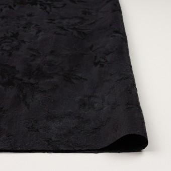 ウール&レーヨン混×フラワー(チャコールブラック)×ジャガード サムネイル3