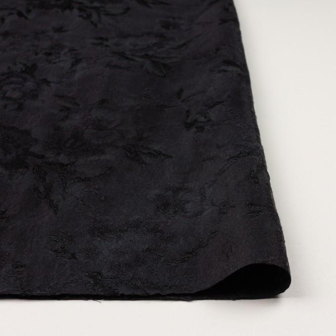 ウール&レーヨン混×フラワー(チャコールブラック)×ジャガード イメージ3