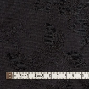 ウール&レーヨン混×フラワー(チャコールブラック)×ジャガード サムネイル4