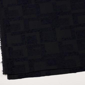 アクリル&コットン混×幾何学模様(ダークネイビー)×二重織ジャガード サムネイル2