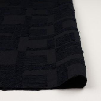 アクリル&コットン混×幾何学模様(ダークネイビー)×二重織ジャガード サムネイル3
