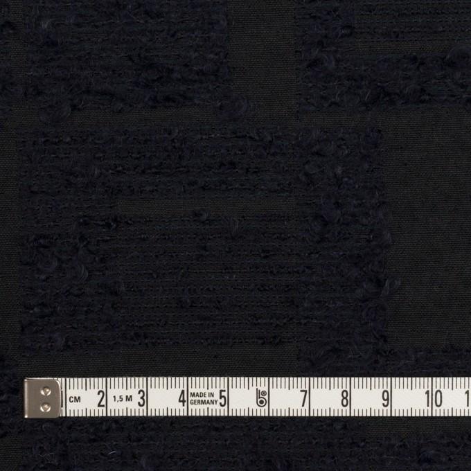アクリル&コットン混×幾何学模様(ダークネイビー)×二重織ジャガード イメージ4