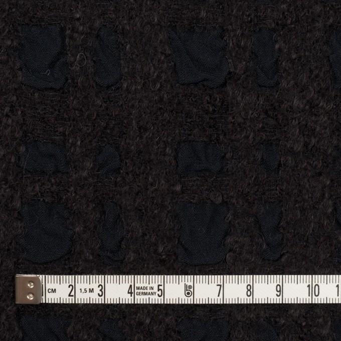 ウール&テンセル×チェック(ダークチャコール)×ジャガード イメージ4