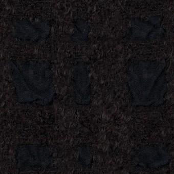 ウール&テンセル×チェック(ダークチャコール)×ジャガード