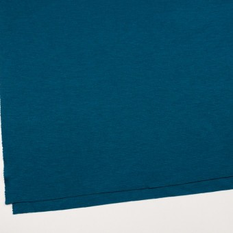 ウール&アクリル混×無地(ターコイズブルー)×Wニット サムネイル2