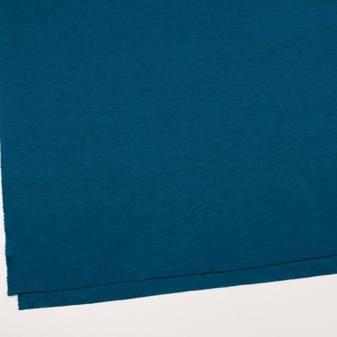 ウール&アクリル混×無地(ターコイズブルー)×Wニット イメージ2