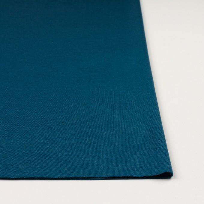 ウール&アクリル混×無地(ターコイズブルー)×Wニット イメージ3