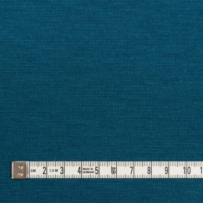 ウール&アクリル混×無地(ターコイズブルー)×Wニット イメージ4