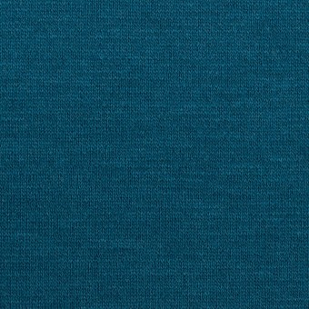 ウール&アクリル混×無地(ターコイズブルー)×Wニット