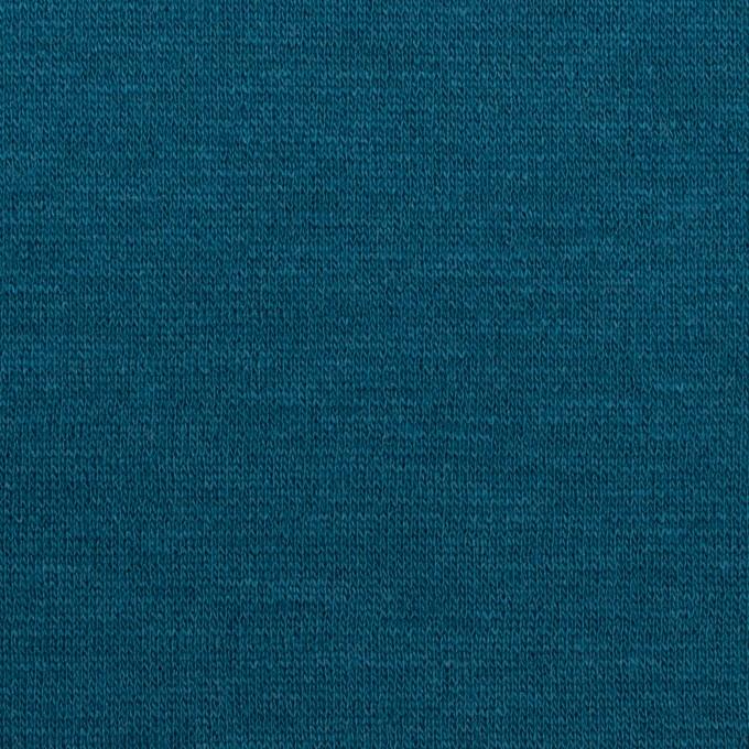 ウール&アクリル混×無地(ターコイズブルー)×Wニット イメージ1