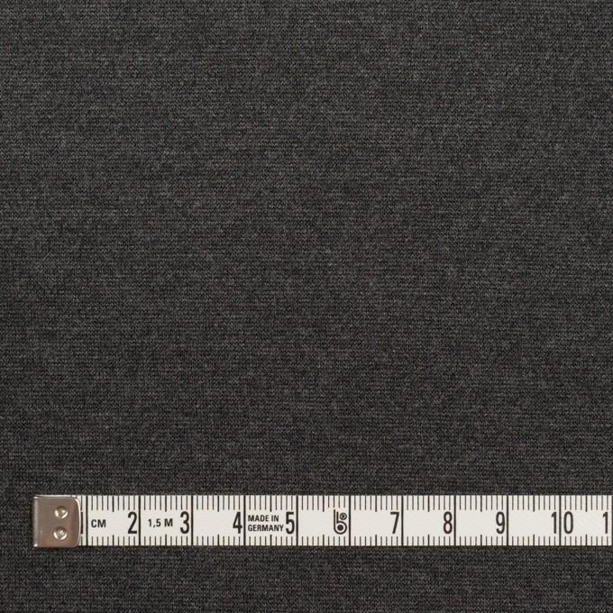 テンセル&ポリエステル混×無地(チャコールグレー)×Wニット イメージ4
