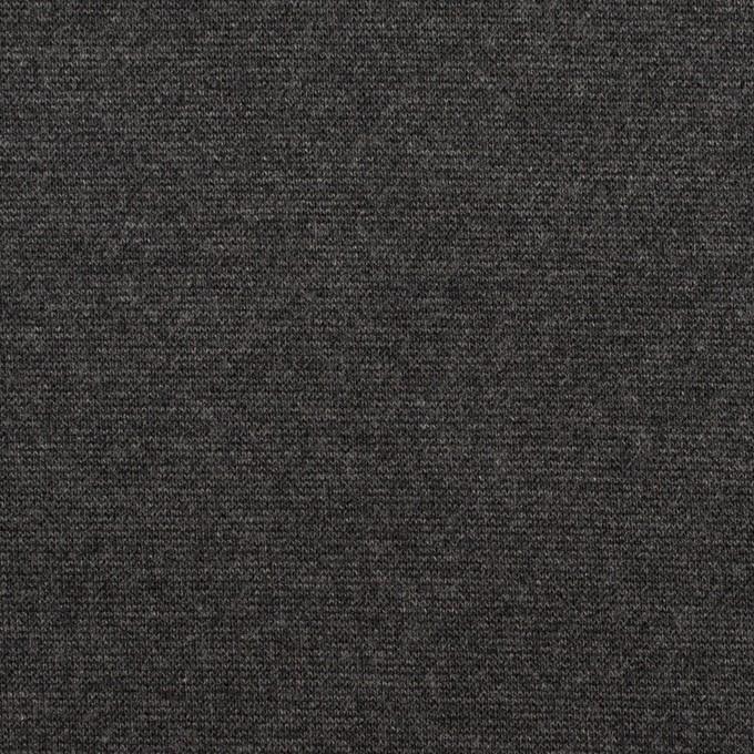 テンセル&ポリエステル混×無地(チャコールグレー)×Wニット イメージ1