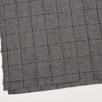 ウール×チェック(アイボリー&ブラック)×千鳥格子 サムネイル2
