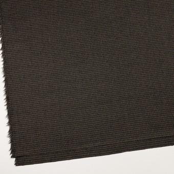 ウール&ポリウレタン×チェック(カーキグリーン&ブラック)×千鳥格子ストレッチ サムネイル2