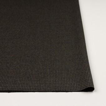 ウール&ポリウレタン×チェック(カーキグリーン&ブラック)×千鳥格子ストレッチ サムネイル3