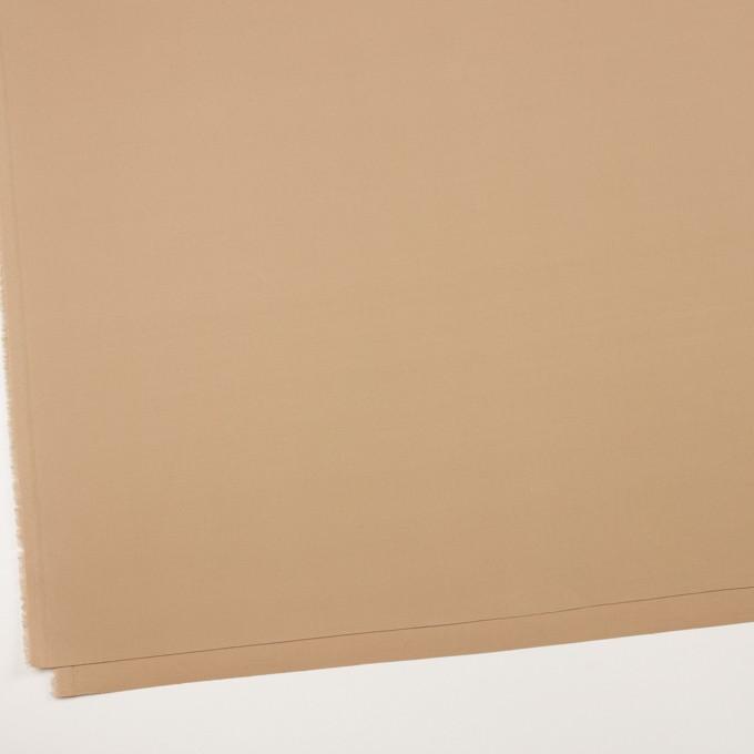 コットン&リヨセル混×無地(ベージュ)×二重織ストレッチ イメージ2