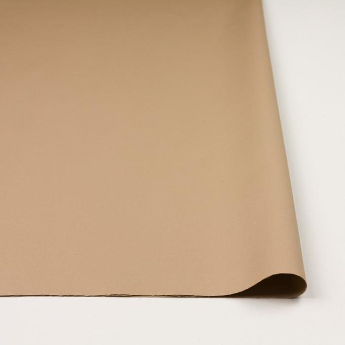 コットン&リヨセル混×無地(ベージュ)×二重織ストレッチ イメージ3