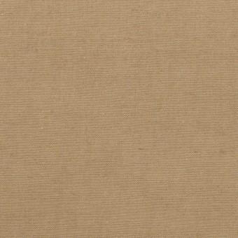 コットン&ヘンプ×無地(カーキベージュ)×ポプリン