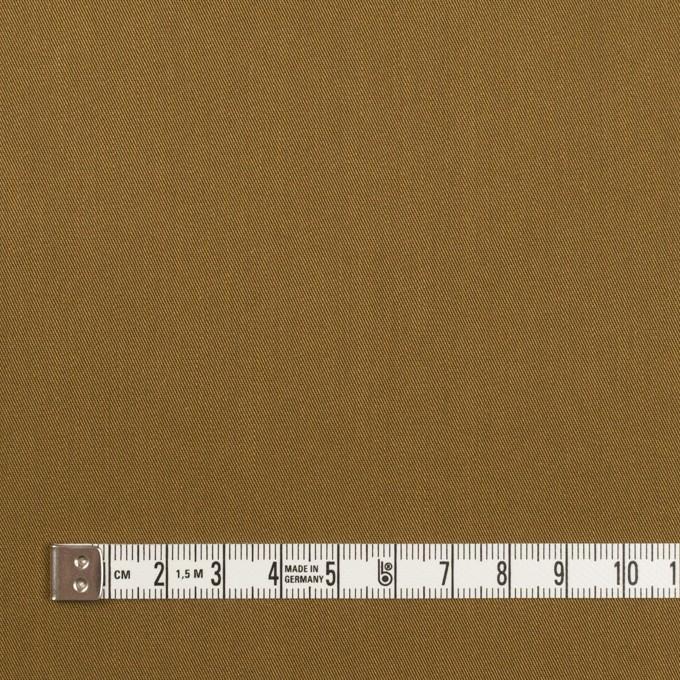 コットン&ポリエステル×無地(オーカー)×サージストレッチ イメージ4