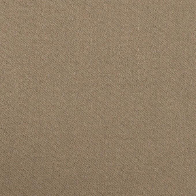 コットン&ポリウレタン×無地(アッシュカーキ)×サテンストレッチ イメージ1