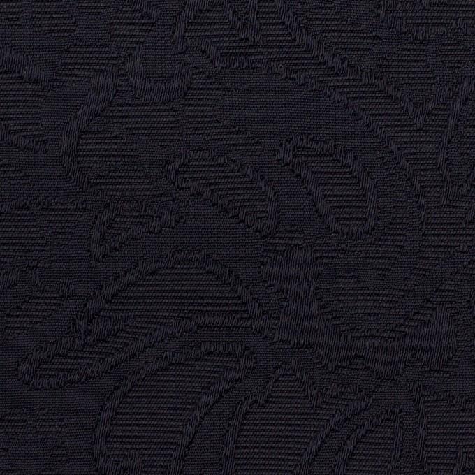 コットン&ポリエステル×フラワー(ダークネイビー)×フクレジャガード イメージ1