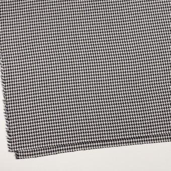 ウール&レーヨン×チェック(オフホワイト&ブラック)×千鳥格子 サムネイル2