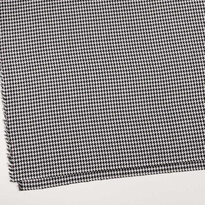 ウール&レーヨン×チェック(オフホワイト&ブラック)×千鳥格子 イメージ2