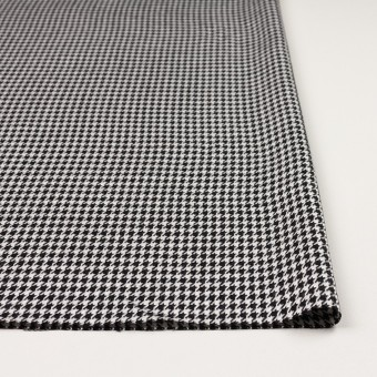 ウール&レーヨン×チェック(オフホワイト&ブラック)×千鳥格子 サムネイル3