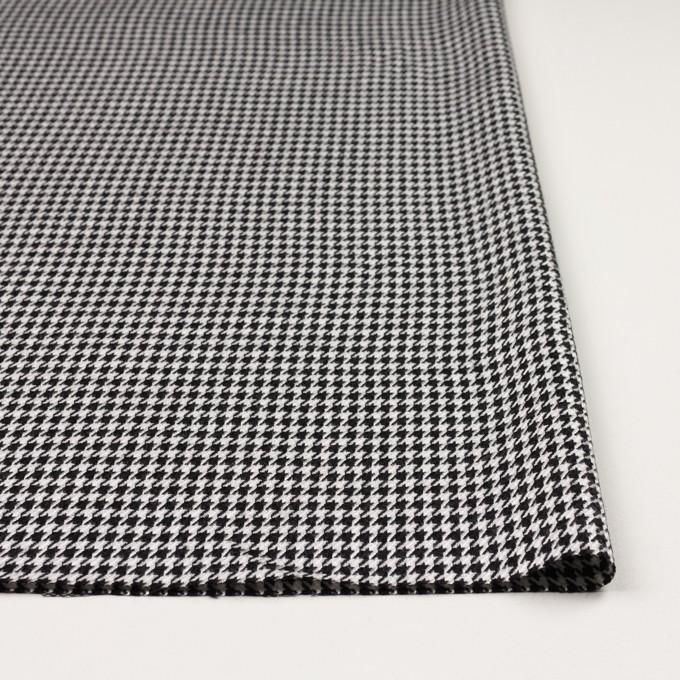 ウール&レーヨン×チェック(オフホワイト&ブラック)×千鳥格子 イメージ3
