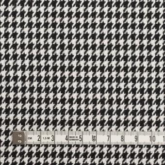 ウール&レーヨン×チェック(オフホワイト&ブラック)×千鳥格子 サムネイル4