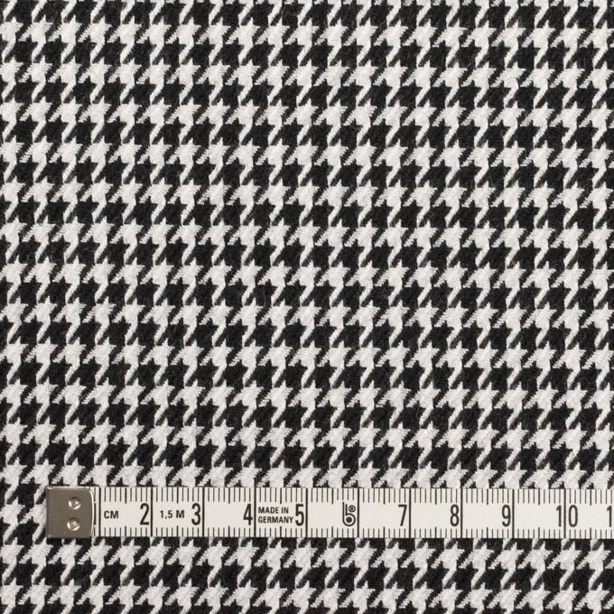 ウール&レーヨン×チェック(オフホワイト&ブラック)×千鳥格子 イメージ4