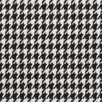 ウール&レーヨン×チェック(オフホワイト&ブラック)×千鳥格子
